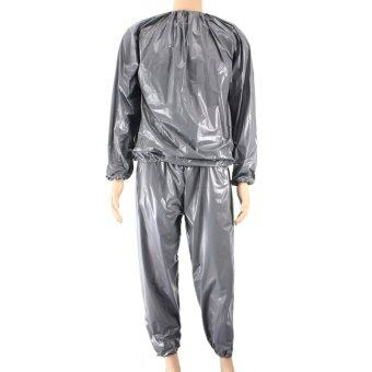 Harga Fitness Loss Weight Sweat Suit Sauna Suit Exercise Gym Size XL Grey (Intl)