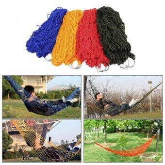 Harga JinGle Nylon Portable Camping Mesh Hammock Hanging Sleeping Bed (Army Green)