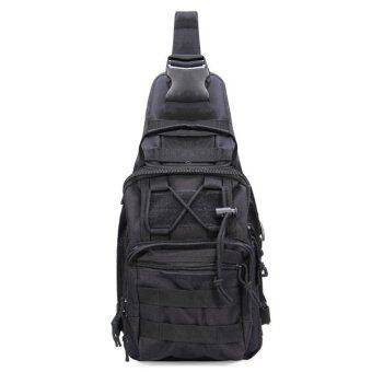 Harga Travel Military Tactical Army Camo Sling Backpack Chest Bag Black