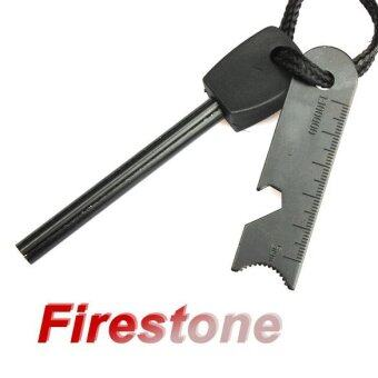 Harga Survival Magnesium Flint Tooth Scraper Stone Fire Starter Lighter Kit - intl