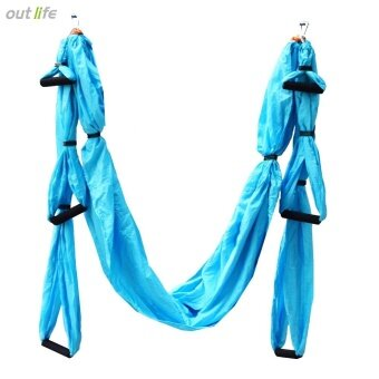Harga Outlife Parachute Fabric Swing Inversion Therapy Anti-gravity Aerial Yoga Hammock - intl