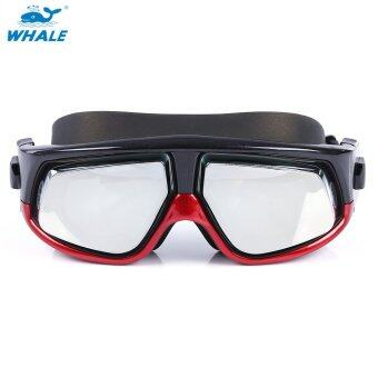 Harga WHALE Diving Goggles Polarized Glasses Spectacles Swimming Equipment (550 DEGREE OF MYOPIA) (Red)