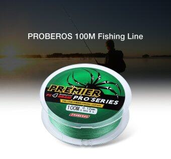 Harga PROBEROS 100M PE 4 Strands Monofilament Braided Fishing Line Accessory 25LBS(Green) - intl