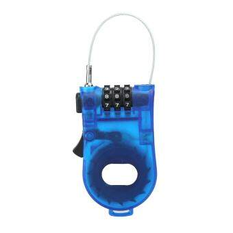 Harga Retractable Bike Bicycle Combination Cable Code Password Lock Luggage - intl