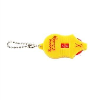 Harga Mini Two Dial Golf Score Keeper Counter with Key Chain (Yellow) - intl