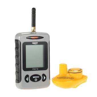 Harga Portable Professional Sounder Wireless Sonar Fish Finder Fishing Probe Detector Fishfinder with Dot Matrix - intl