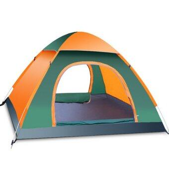 Harga Quick-Opening Tents Suit For 3-4 People Full-automatic Camping Tents (Orange)