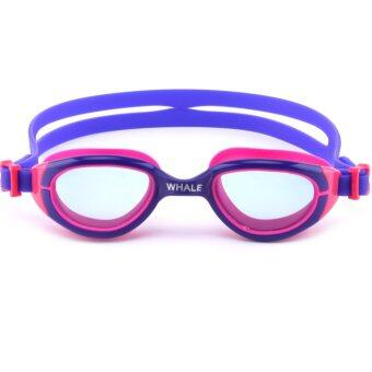 Harga Whale Children Kids permanent anti-fog Diving Swimming Goggles(Purple-Pink)