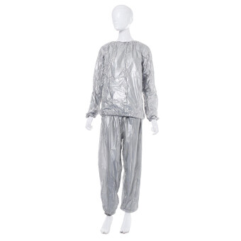 Harga Heavy Duty Sweat Suit Sauna Suit Exercise Gym Fitness Weight Loss Anti-Rip Suit Sliver Size: S/M/L - intl
