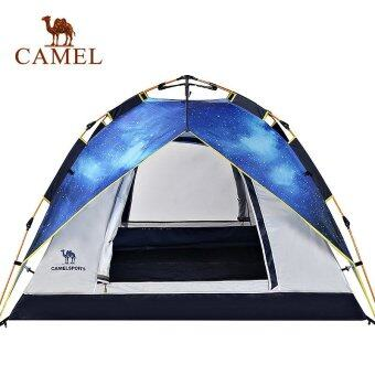 Harga Camel Automatic Building Camping Tent Four Season 3-4 Person Outdoor Tents(Skyblue) - intl