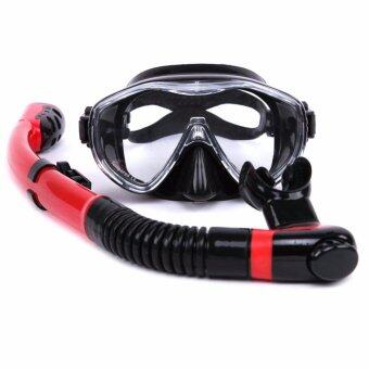 Harga Professional hot sale Whale brand 4 Colors Scuba Diving Mask Snorkel Goggles Set Silicone Swimming Pool Equipment