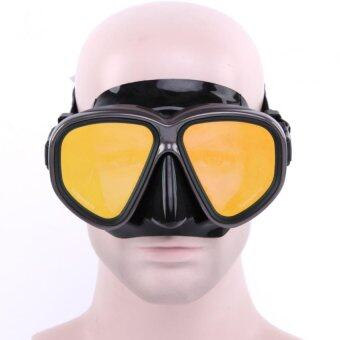 Harga Whale Trendy Adult Anti-fog Diving Equipment Adjustable Swimming Protective Goggles Snorkeling Mask Glasses(Yellow)