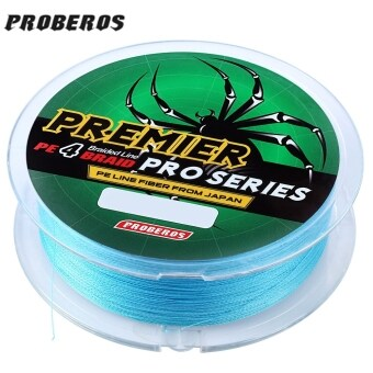 Harga PROBEROS 100M PE 4 Strands Monofilament Braided Fishing Line Accessory 15LBS(Blue)