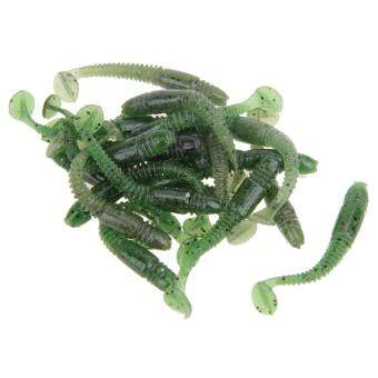 Harga Artificial Lure 20pcs 1g/5cm Worm Swimbait Jig Head Soft Lure Fishing Bait - intl