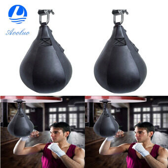 Harga Aooluo 2016 New Boxing Speed Bag Boxing Fitness Speedbag Speedball (Black) - intl