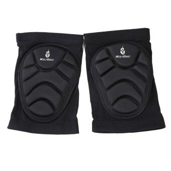 Harga A Pair of WOLFBIKE Unisex Men Women Cycling Skiing Goalkeeper Soccer Football Volleyball Extreme Sports Protective Knee Pads Kneepads Knee Protector - Size M (Black)