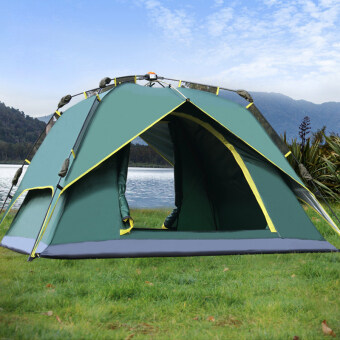 Harga Outdoor Tent 3-4 Person Camping&Hiking Tents With Carry Bag(Army Green)