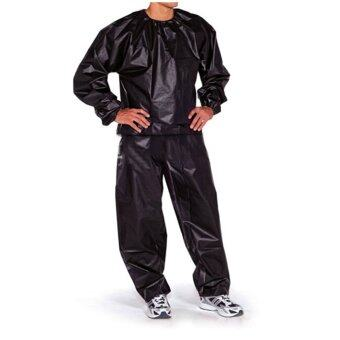 Harga Fitness Loss Weight Sweat Suit Sauna Suit Exercise Gym Size 3XL Black
