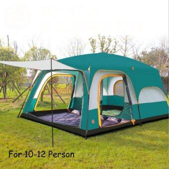 Harga Luxury Ultralarge One Hall Two Bedrooms For 12 Person Outdoor Camping Tent Waterproof Family Tent - intl