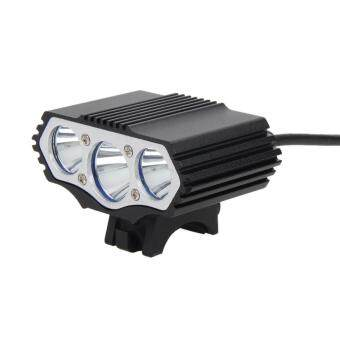 Harga 12000Lm 3 x XML T6 LED 4 Modes Bicycle Lamp Bike Light Headlight Cycling To - intl