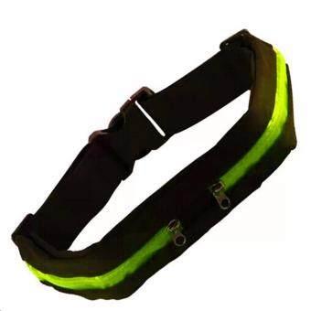ซื้อ/ขาย Itsara Sport Bag กระเป๋าคาดเอวใส่วิ่งออกกำลังกาย แบบ 2 ช่อง ( Green/Black )