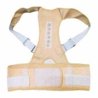 JC เข็มขัดพยุงหลังแบบเต็มตัว แบบมีแม่เหล็กกดจุด ใส่ได้ทั้งหญิง และ ชาย Magnetic Neoprene Posture Corrector Back Supporter (สีเนื้อ) M