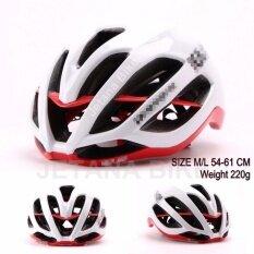 Jetana Bike หมวกจักรยาน หมวกกันน๊อคจักรยาน น้ำหนักเบา เสือหมอบ เสือภูเขา ใช้ได้ทั้งชายและหญิง ขนาด M/L (สีขาวแดง)