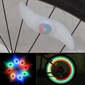 ราคา Jetana ไฟติดล้อจักรยาน ไฟเจ็ดสี ไฟเกี่ยวล้อ หลอด LED สว่างเพิ่มความปลอดภัย กันน้ำ