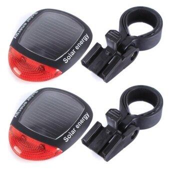 ราคา JJ ไฟท้ายจักรยานพลังงานแสงอาทิตย์ Bike Solar Cell Light รุ่น NO.909 (Black)2แพค