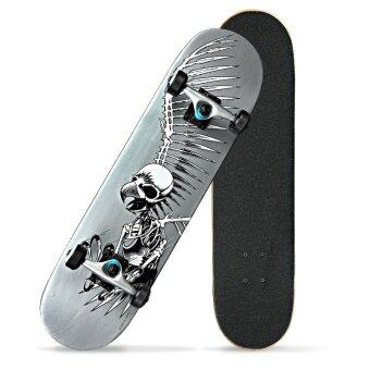 JOY The skeleton pattern adult skateboard