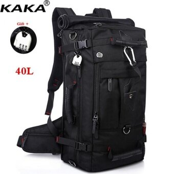 KAKA 40L Shock-resistant 17 inch Laptop Computer Bag LuggageBackpack Outdoor Sports Backpack Hiking Backpack Climbing BackpackMountaineering Backpack Travel Bag with Lock - intl
