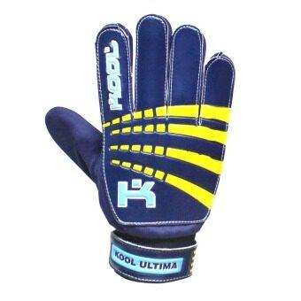 KOOL PRO ถุงมือโกล์ว ฟุตบอล Football Gloves keeper Ultima (Blue)