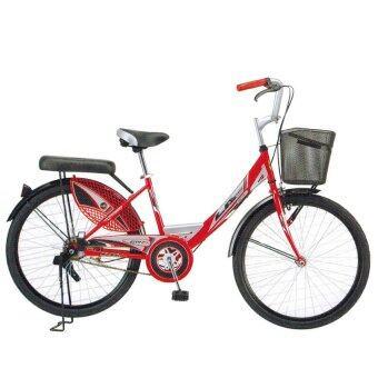 """ประเทศไทย LA Bicycle จักรยาน รุ่น 24"""" CITY RIDE (สีแดง)"""
