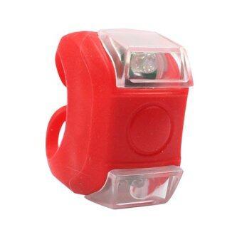 2561 ไฟฉาย/ไฟติดแฮนด์จักรยาน LED ซิลิโคนแบบกระพริบ-กันน้ำได้ รุ่น Bicycle Safety Lamp Lifetime LED (สีแดง)