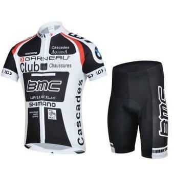 Lee Bicycle ชุดสั้นปั่นจักรยานลายทีม ยี่ห้อ:BMC กางเกงเป้าเจลสีฟ้าสำหรับนักปั่นทั้งชายและหญิง