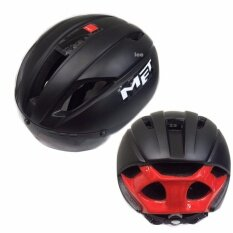 Lee bicycle 2017 แบบใหม่ หมวกจักรยาน รุ่น MET ดำเงา)size:M/L:54-61cm