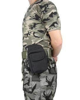 leegoal Outdoor Multifunction Tactical Molle Pouch EDC UtilityGadget Belt Waist Bag - Black