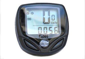 Living ไมล์จักรยานไร้สาย วัดความเร็ว-ระยะทาง-เวลา กันน้ำ - สีดำ