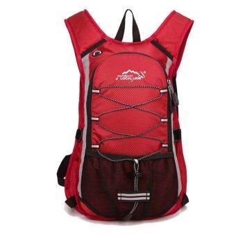 ราคา Local Lion 15L กระเป๋าสะพายหลัง กระเป๋าเป้นักปั่นจักรยาน (สีแดง)