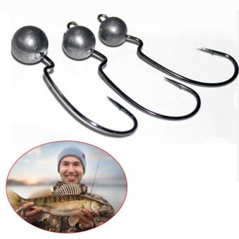 LotBaitholder Hook Jig Big Fishing Hooks Black HIgh Carbon Steel Fishook - intl - 2