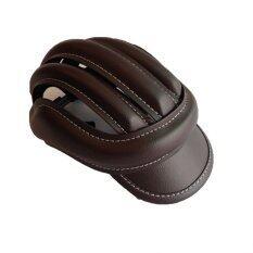 Lotte VINTAGE Helmet หมวกปั่นจักรยาน ปรับเข้า/ออกได้ (Classic Brown)