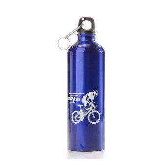 ประเทศไทย M SPORT ขวดใส่น้ำดื่มอลูมิเนี่ยม กระติกน้ำ สำหรับจักรยาน รุ่น Bottlez ( สีน้ำเงิน)