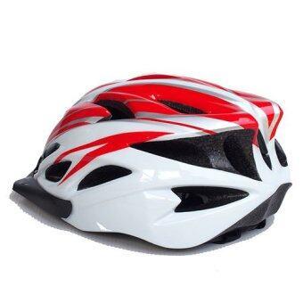 หมวกจักรยาน Macanic (สีขาว/แดง)