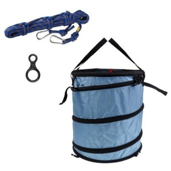 MagiDeal Rock Tree Climbing Rescue Rope Bag 10m Rope 35KN Figure 8 Rappel Descender - intl