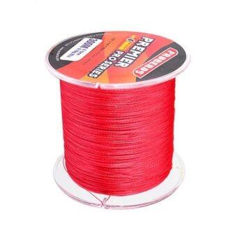 MagiDeal Super Strong 300M 0.26mm 30LB PE Braided Lines Sea Fishing Line Red .
