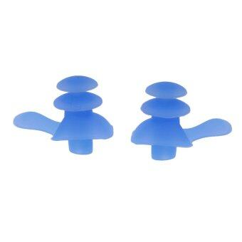 MagiDeal Swimming Silicone Earplugs for Hearing Protection Blue