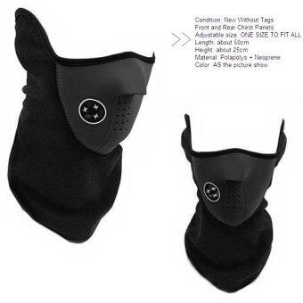 Mask หน้ากากกันฝุ่น กันลม กันแดด มอเตอร์ไซด์ จักรยาน ผ้าปิดจมูกรุ่น 001 ( สีดำ ) (image 1)