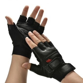Harga Men Weight Lifting Gym Exercise Training Sport Fitness Sports Car Leather Gloves - intl