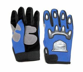 ประเทศไทย MHF ถุงมือผ้าเต็มมือ GLOVE77 - Blue