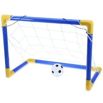 Mini Football Soccer Ball Goal Post Net Set with Pump IndoorOutdoor Exercise Fitness Baby Kids Child Children Sport Toy - intl